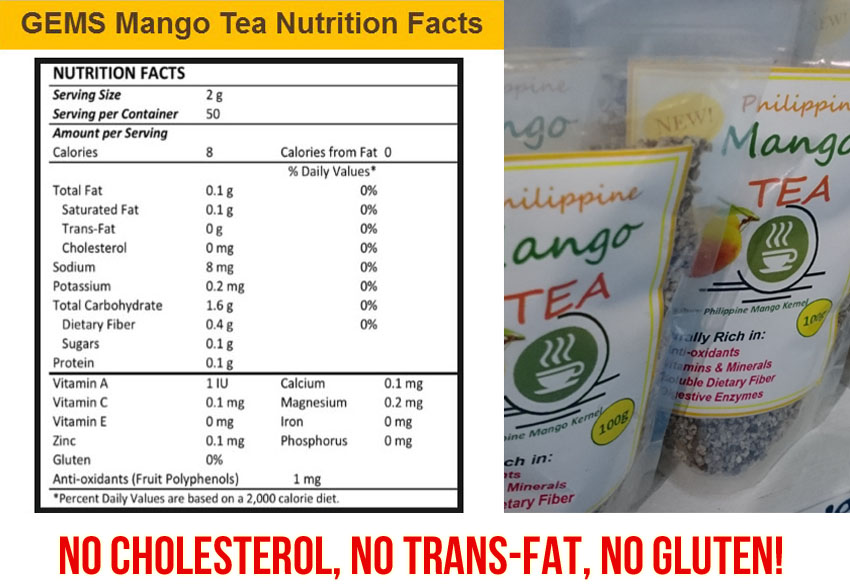 Mango Tea Nutrition Facts